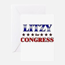 LITZY for congress Greeting Card