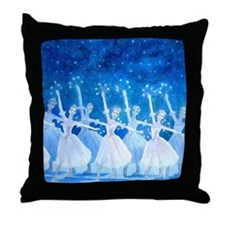 Dance of the Snowflakes Throw Pillow