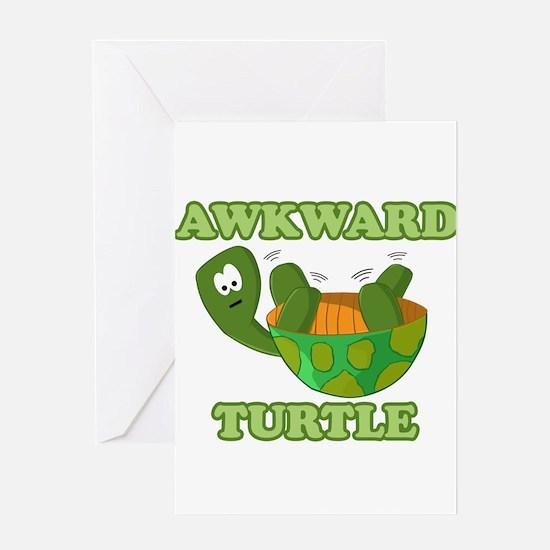 Awkward Turtle Greeting Card