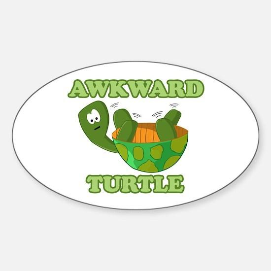 Awkward Turtle Sticker (oval)