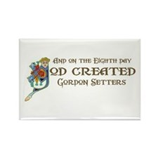 God Created Setters Rectangle Magnet (10 pack)
