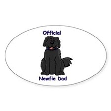 Newfie Dad Oval Decal
