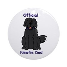 Newfie Dad Ornament (Round)