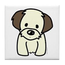 Shih Tzu Puppy Tile Coaster