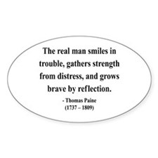 Thomas Paine 17 Oval Decal