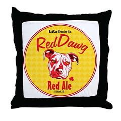 Red Nose Throw Pillow