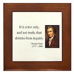 Thomas Paine 18 Framed Tile