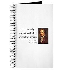 Thomas Paine 18 Journal