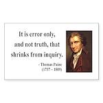 Thomas Paine 18 Rectangle Sticker