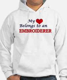 My Heart Belongs to an Embroider Hoodie