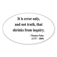 Thomas Paine 18 Oval Decal