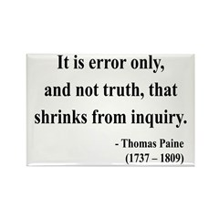 Thomas Paine 18 Rectangle Magnet (100 pack)