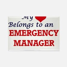 My Heart Belongs to an Emergency Manager Magnets