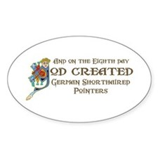 God Created Pointers Oval Decal