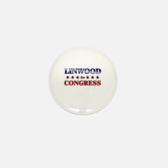LINWOOD for congress Mini Button