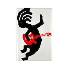 Kokopelli Guitar Rectangle Magnet
