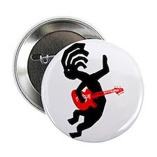 "Kokopelli Guitar 2.25"" Button"
