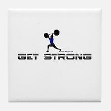 GET STRONG Tile Coaster