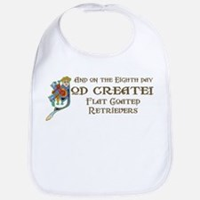 God Created Flatcoats Bib