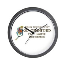 God Created Flatcoats Wall Clock