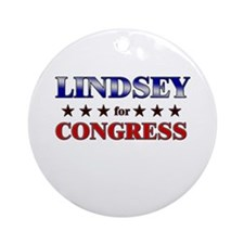 LINDSEY for congress Ornament (Round)
