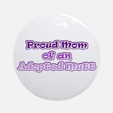 Adopted Mutt Ornament (Round)