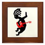 Kokopelli Guitar Framed Tile
