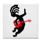 Kokopelli Guitar Tile Coaster