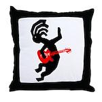 Kokopelli Guitar Throw Pillow