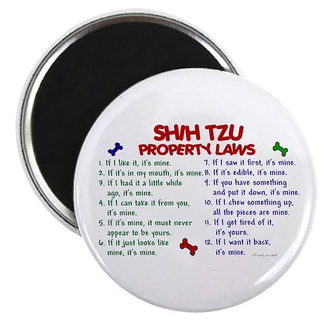 """Shih Tzu Property Laws 2 2.25"""" Magnet (10 pack)"""