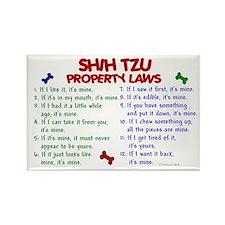 Shih Tzu Property Laws 2 Rectangle Magnet (10 pack