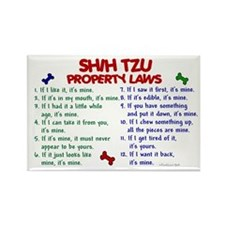 Shih Tzu Property Laws 2 Rectangle Magnet (100 pac