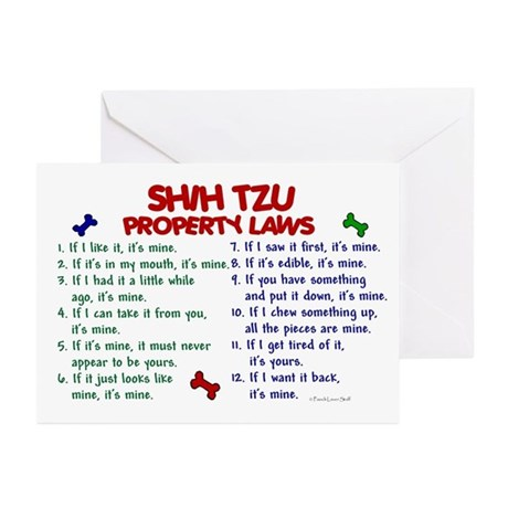 Shih Tzu Property Laws 2 Greeting Cards (Pk of 10)