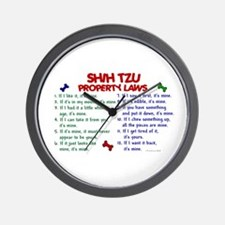 Shih Tzu Property Laws 2 Wall Clock