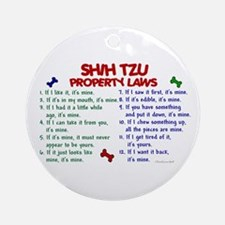 Shih Tzu Property Laws 2 Ornament (Round)