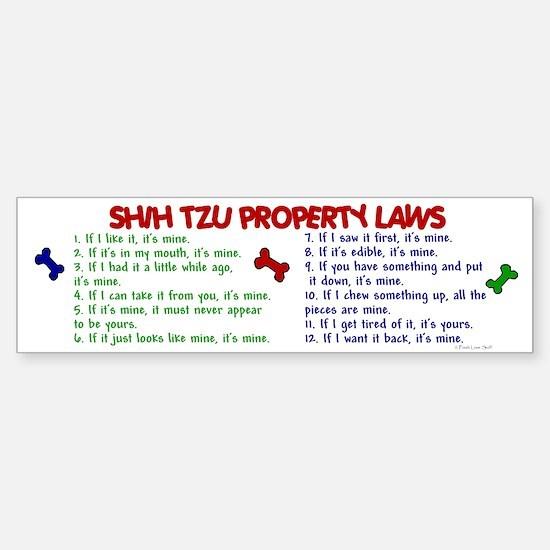 Shih Tzu Property Laws 2 Bumper Bumper Bumper Sticker