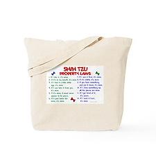 Shih Tzu Property Laws 2 Tote Bag