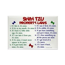 Shih Tzu Property Laws 2 Rectangle Magnet