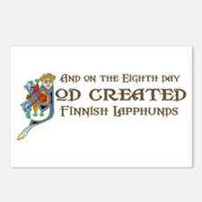 God Created Lapphunds Postcards (Package of 8)