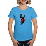 Kokopelli Guitar Women's Dark T-Shirt