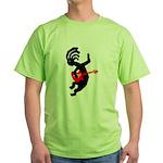 Kokopelli Guitar Green T-Shirt