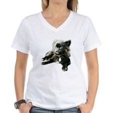 Adorable Black Pomeranian Puppy Shirt