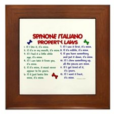 Spinone Italiano Property Laws 2 Framed Tile