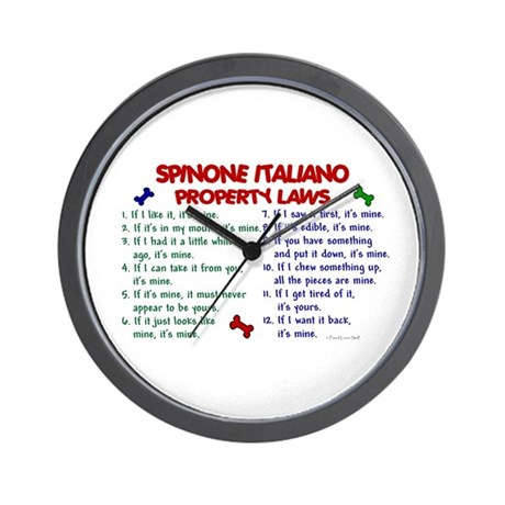 Spinone Italiano Property Laws 2 Wall Clock