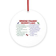 Spinone Italiano Property Laws 2 Ornament (Round)