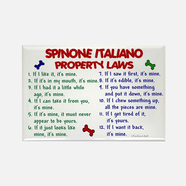 Spinone Italiano Property Laws 2 Rectangle Magnet
