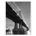 Manhattan Bridge, At Night Poster