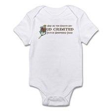 God Created Shepherds Infant Bodysuit