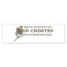 God Created Shepherds Bumper Bumper Sticker