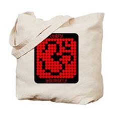 """""""Unify Yourself"""" Red/Black Tote Bag"""